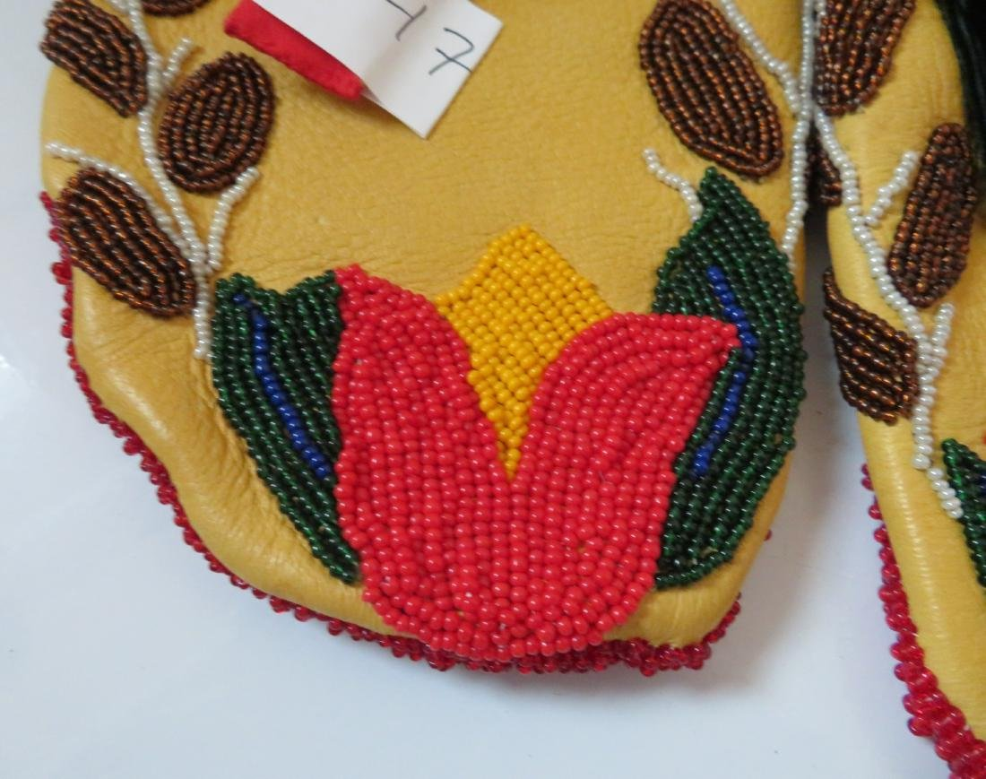 Fully-Beaded Ceremonial Moccasins - 3