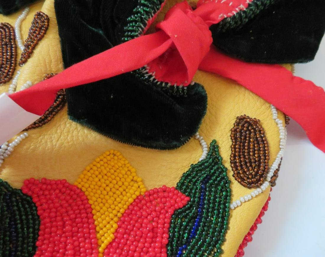 Fully-Beaded Ceremonial Moccasins - 5