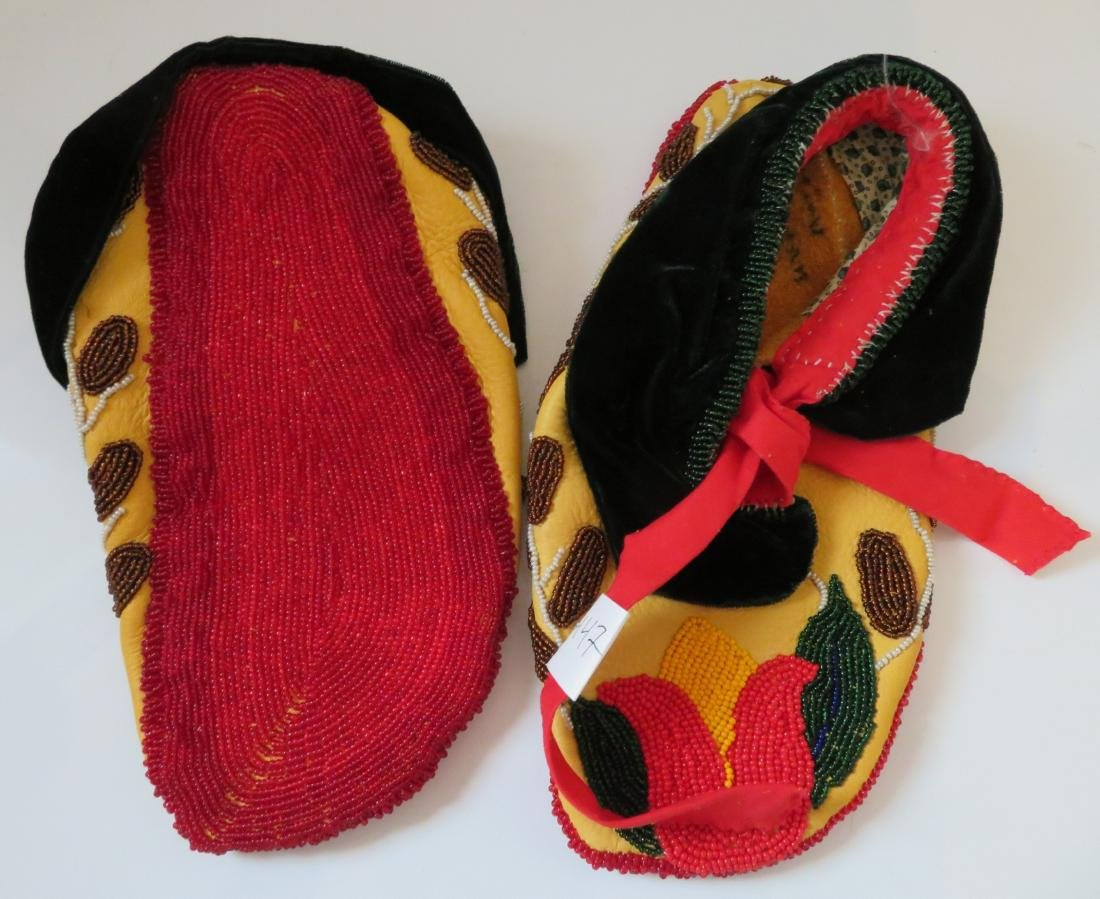 Fully-Beaded Ceremonial Moccasins - 8