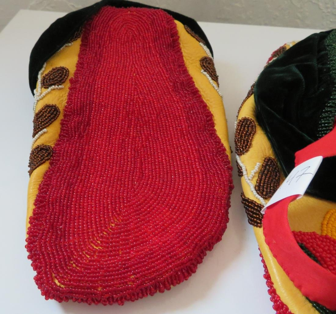Fully-Beaded Ceremonial Moccasins - 9