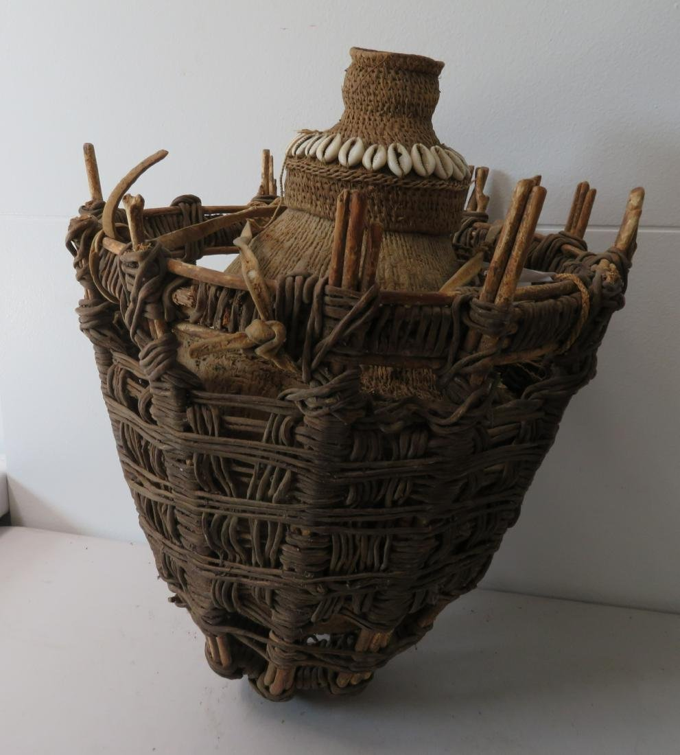 3 Antique African Containers - 10