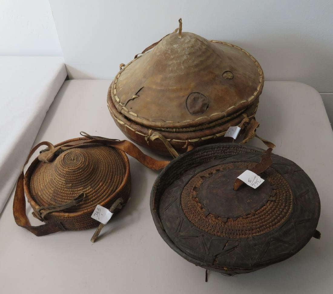 3 Antique African Containers