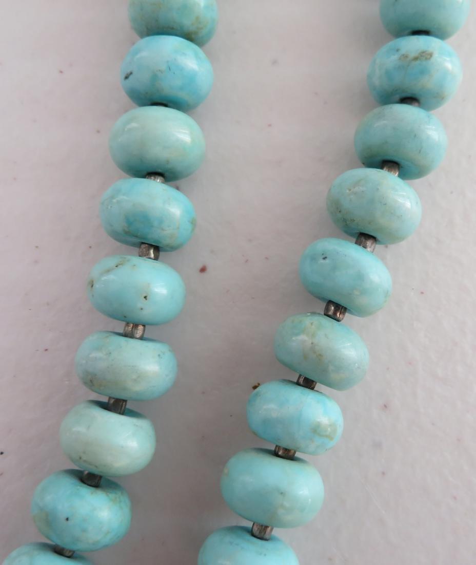 Turquoise Stone Bead Necklace - 5