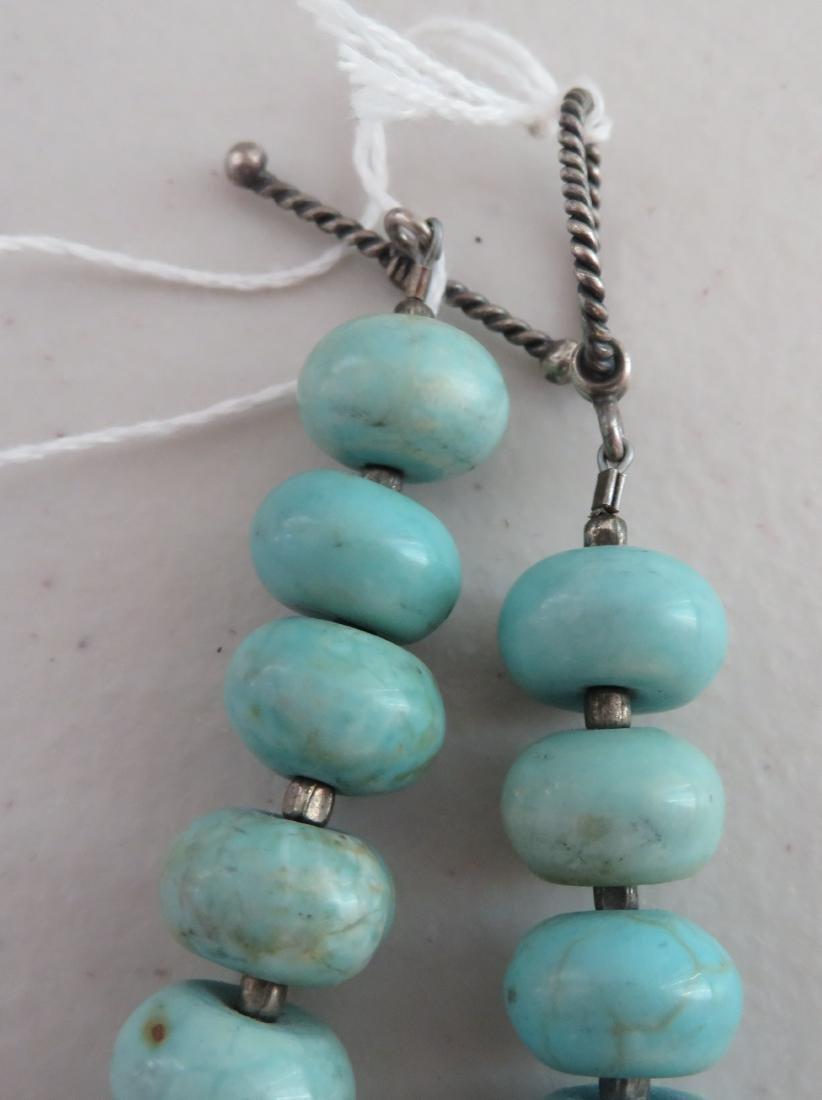 Turquoise Stone Bead Necklace - 6