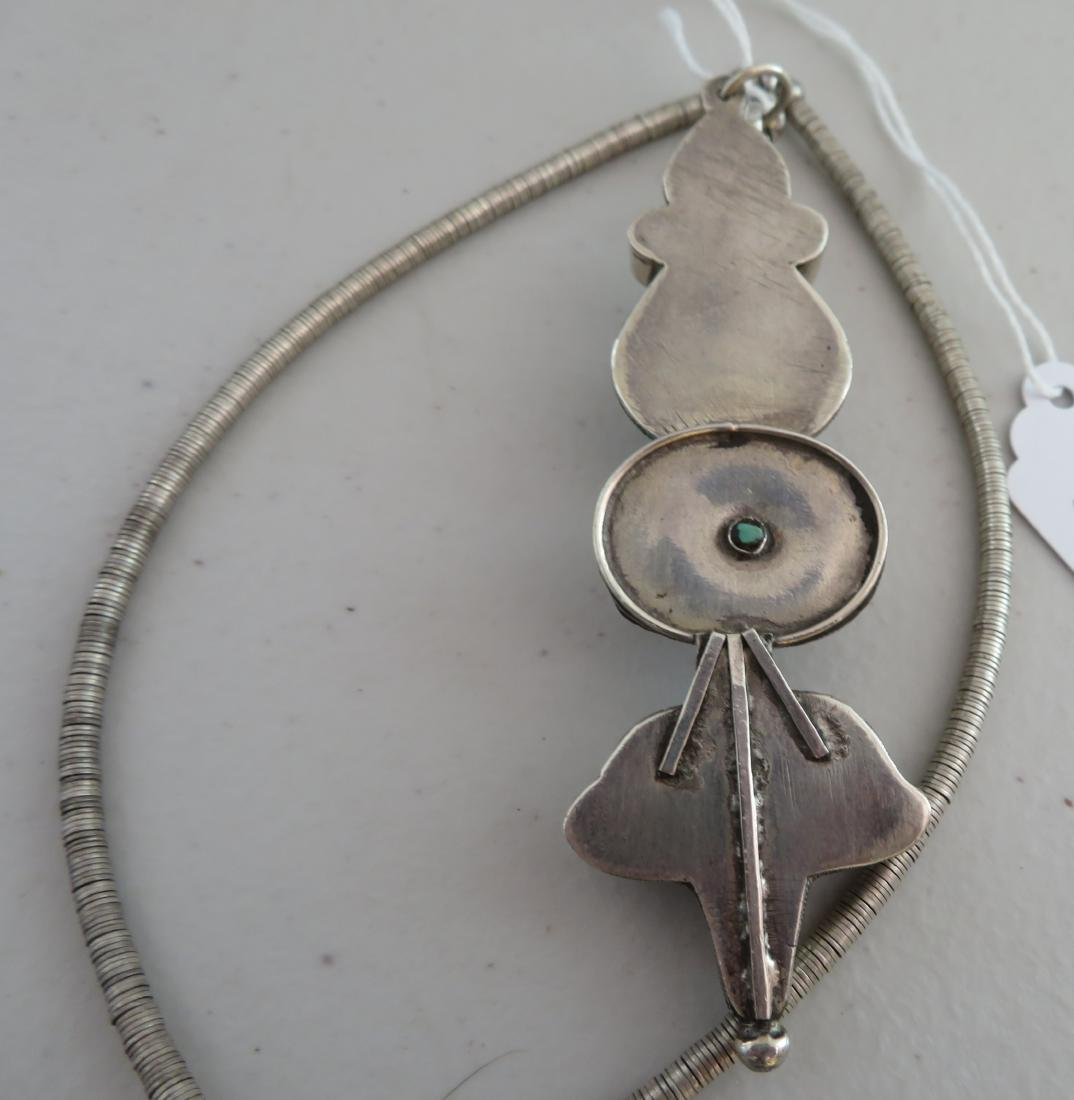 Sterling Silver & Turquoise Necklace - 10