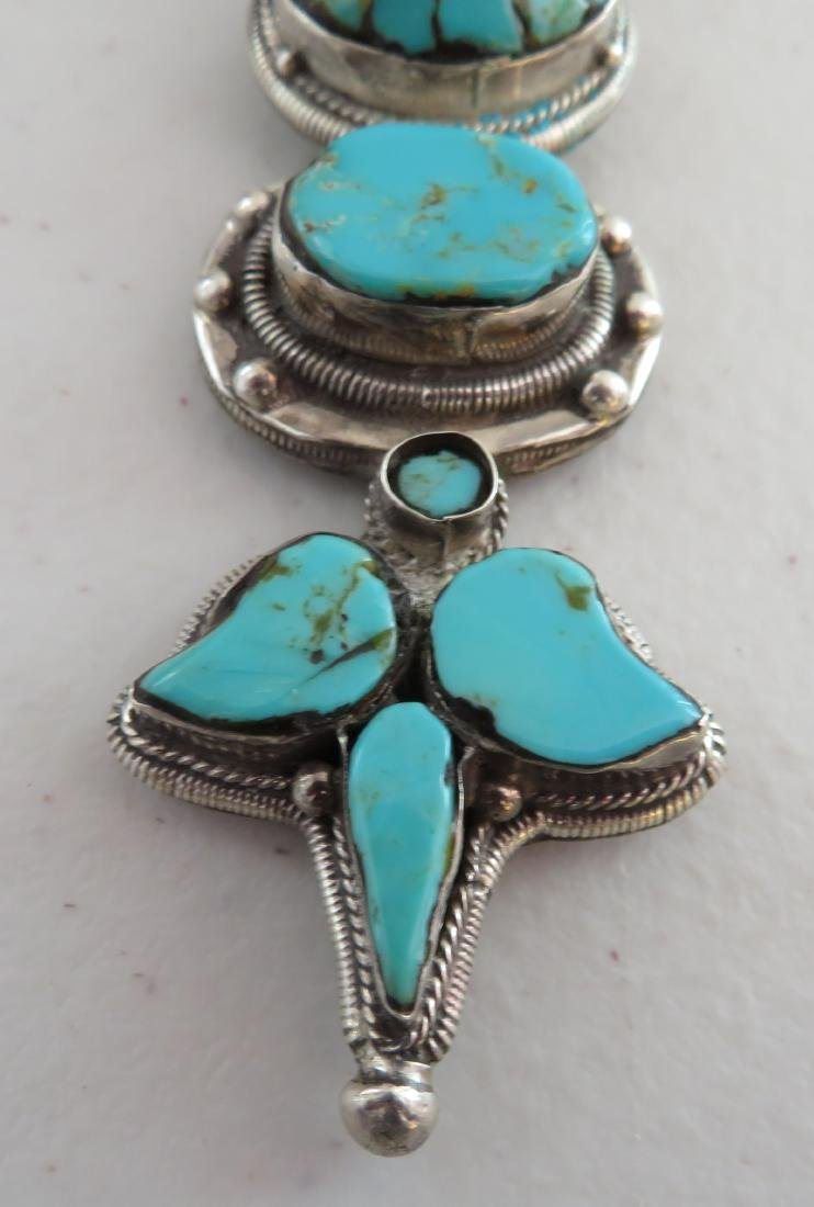 Sterling Silver & Turquoise Necklace - 2