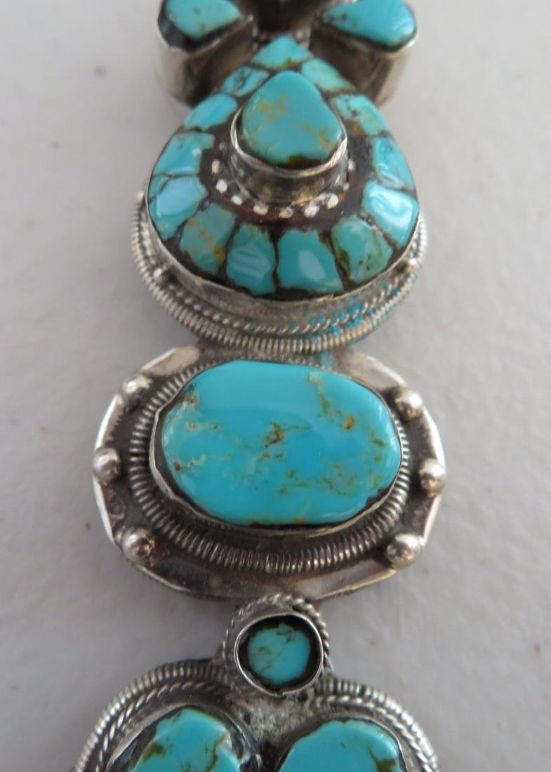 Sterling Silver & Turquoise Necklace - 3