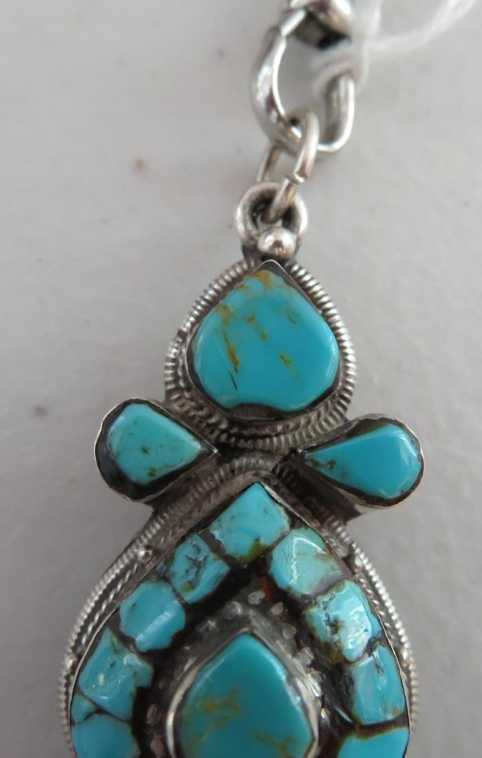 Sterling Silver & Turquoise Necklace - 5