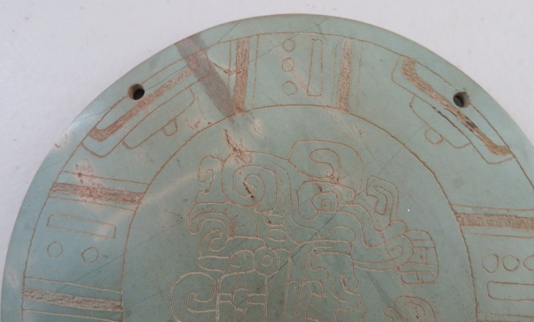 7 Mayan-style Engraved Plaques - 3