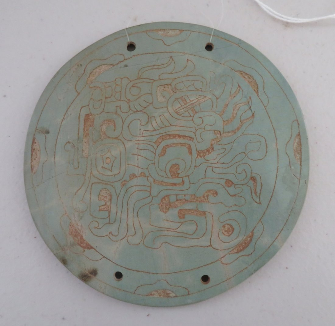 7 Mayan-style Engraved Plaques - 5