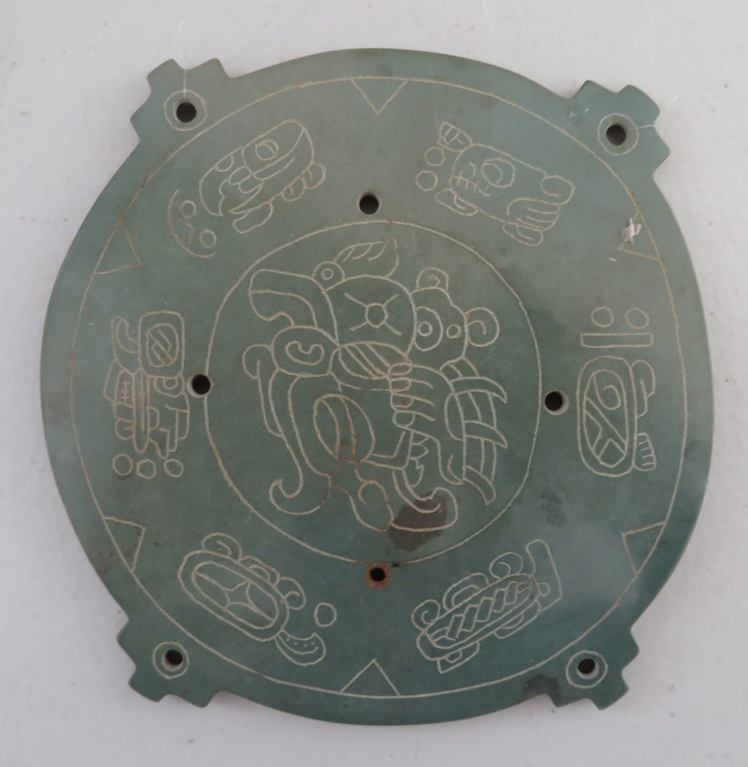 7 Mayan-style Engraved Plaques - 7