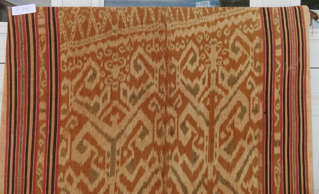 Ikat Indonesian Framed Textile - 9