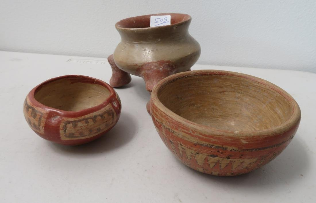 3 Fine Painted Ollas