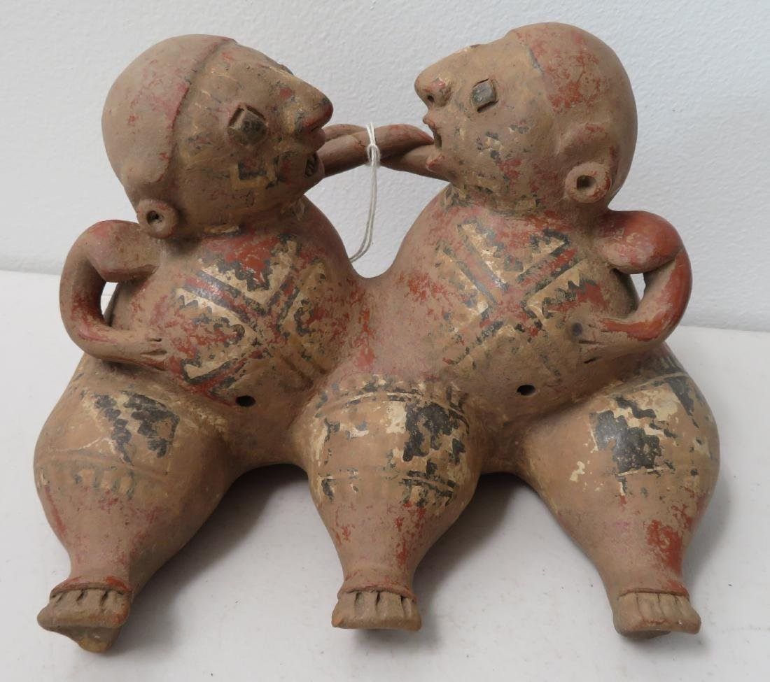 Conjoined Clay Figure