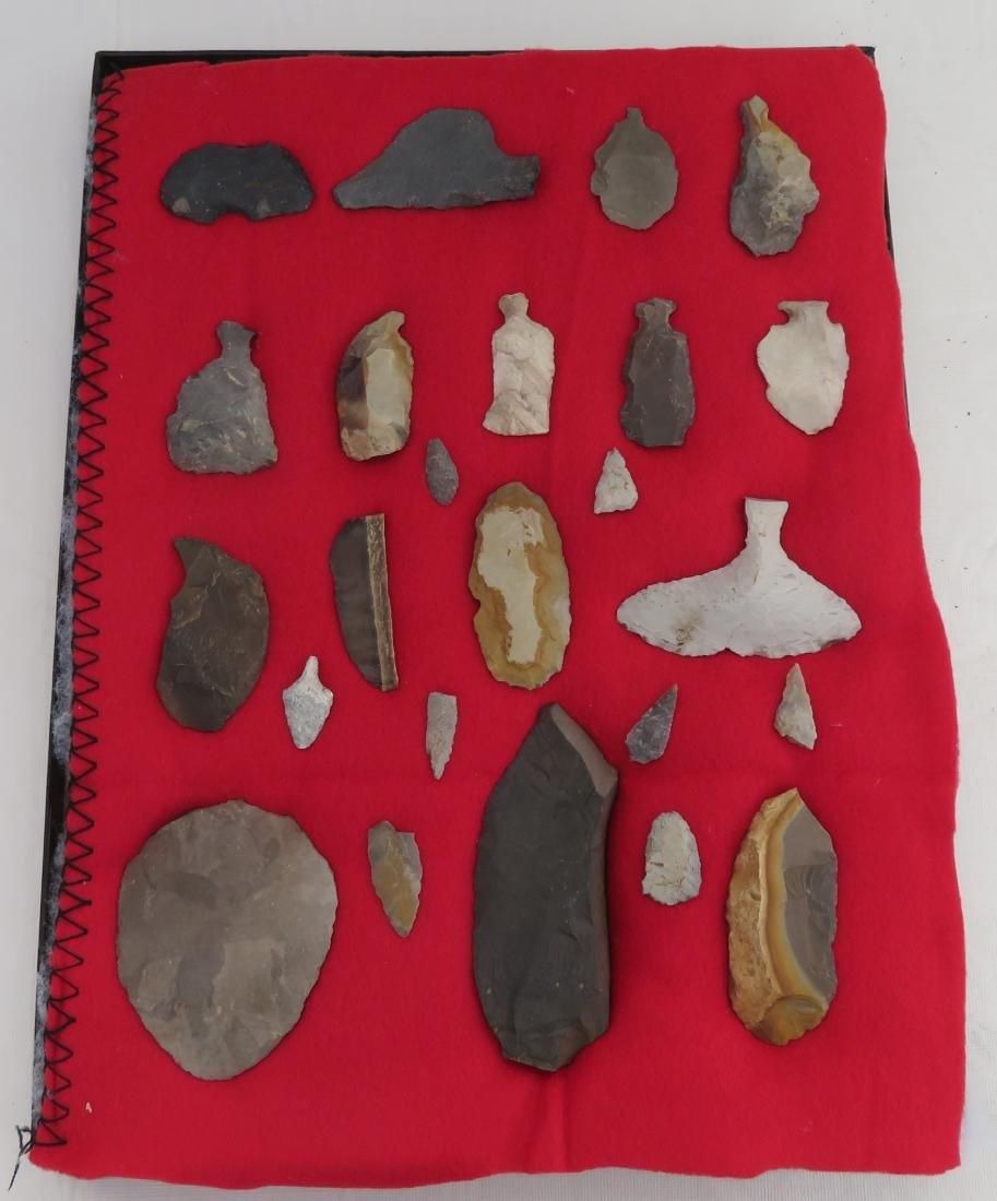 Japanese Arrowhead Flint Artifact Collection