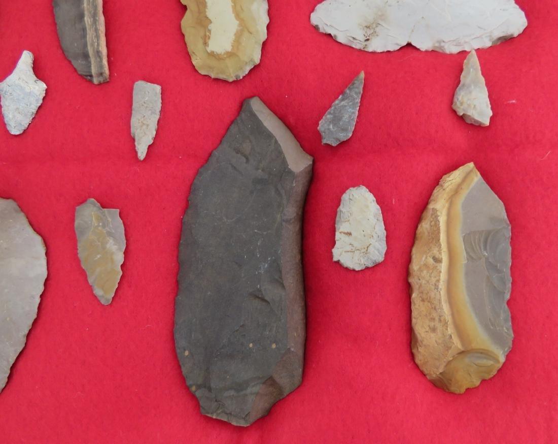 Japanese Arrowhead Flint Artifact Collection - 2
