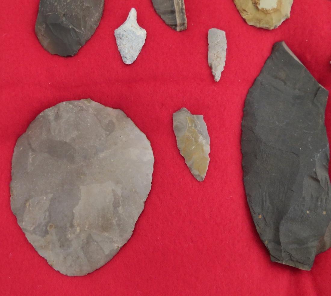 Japanese Arrowhead Flint Artifact Collection - 3