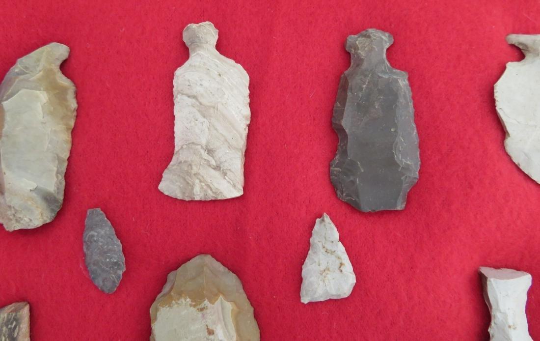 Japanese Arrowhead Flint Artifact Collection - 8