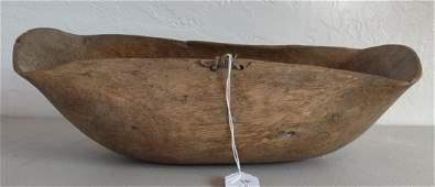 Tribal Burl Wood Bowl