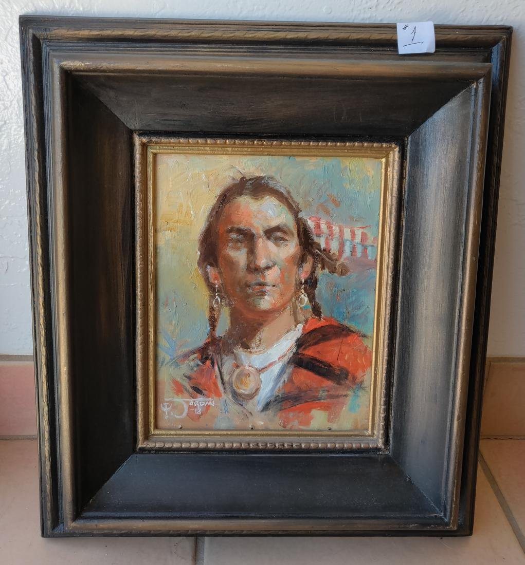 """""""Young Warrior"""" Original Oil on Canvas by Jack Jordan"""
