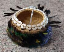 Pomo Gift Basket wShell  Feathers