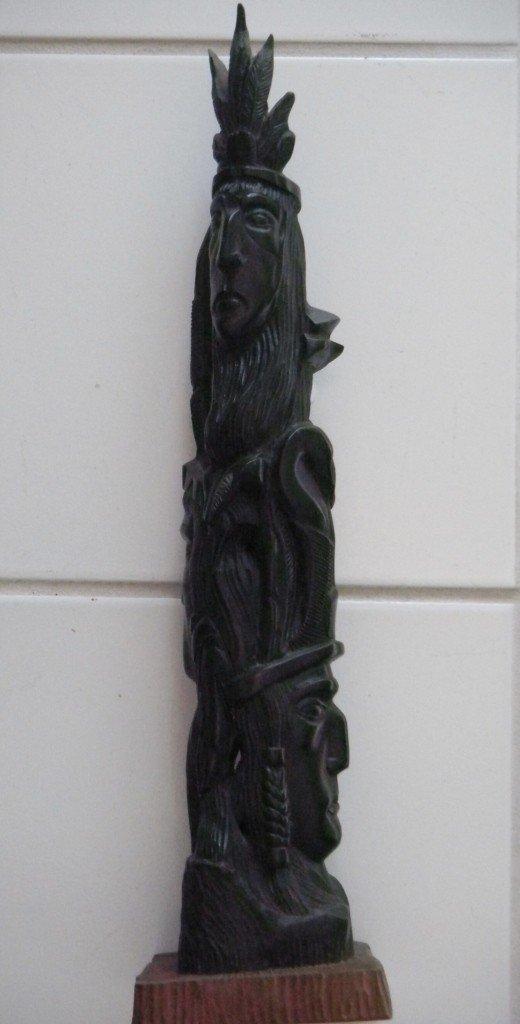 6: Ebony Wood Carving - Totem Pole like
