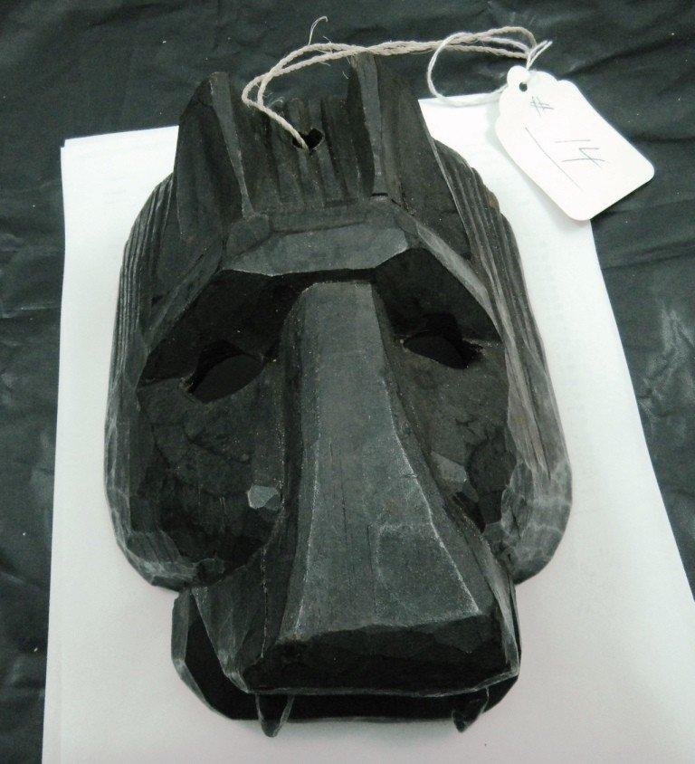 14: Guatemalan Wood Jaguar Mask