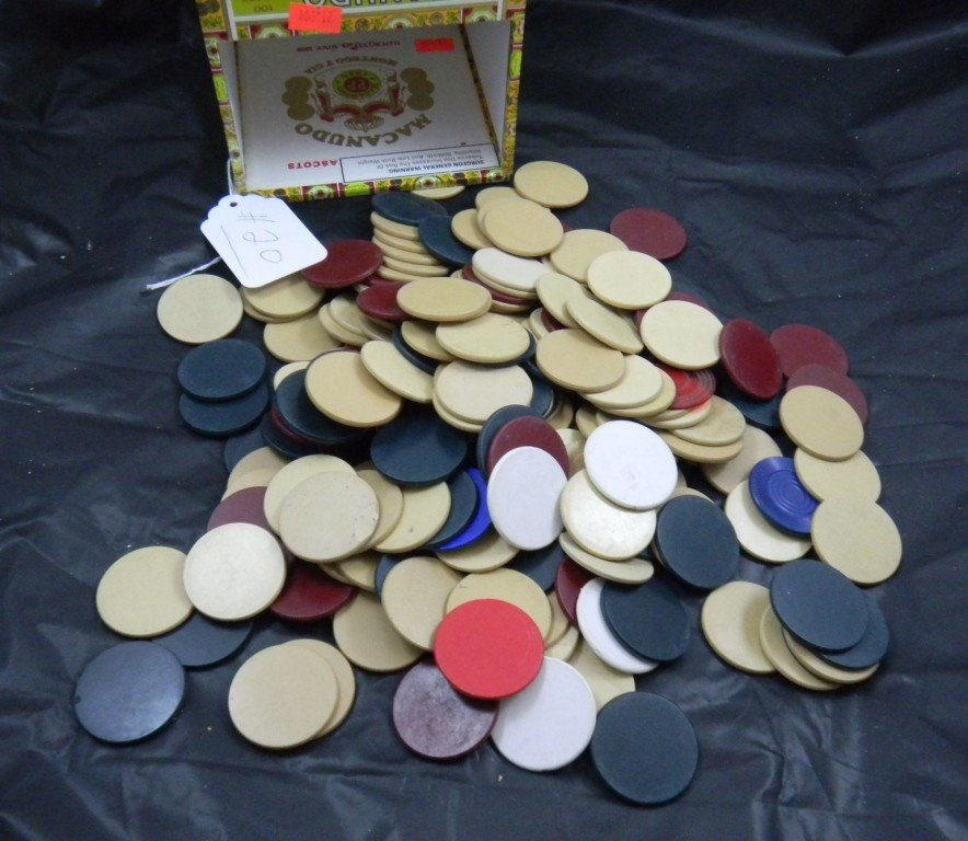 20: 175 Antique Poker Chips from 1920'
