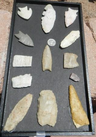 14: Frame Paleo and archaic flint with perfect Clovis