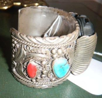 18: Sterling Watch Bracelet signed BH
