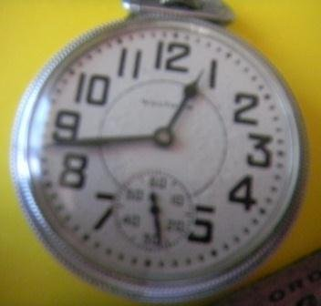 151: Waltham Railroad Pocket Watch with memorabilia