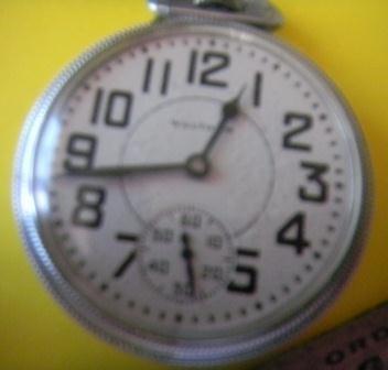 151: Waltham Railroad Pocket Watch with memorabilia