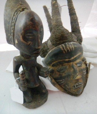 2: Luba Figure and Pende  Mask from Africa