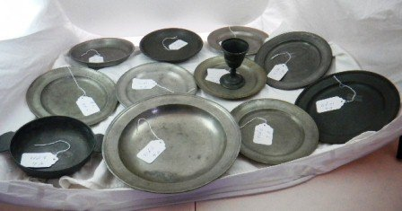 6: Early American Pewter Pieces