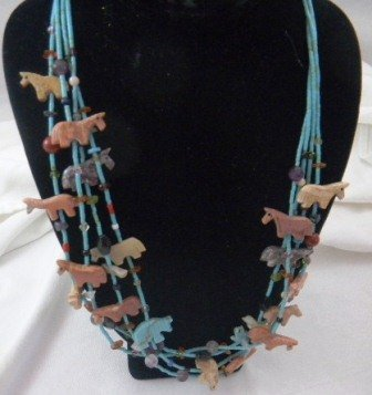 23: Two Zuni Indian Fetish Necklaces