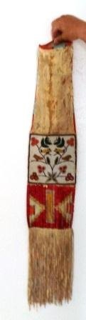 1890's Quilled and Beaded Pipe Bag