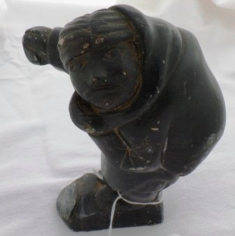 Steatite Eskimo Human Carving