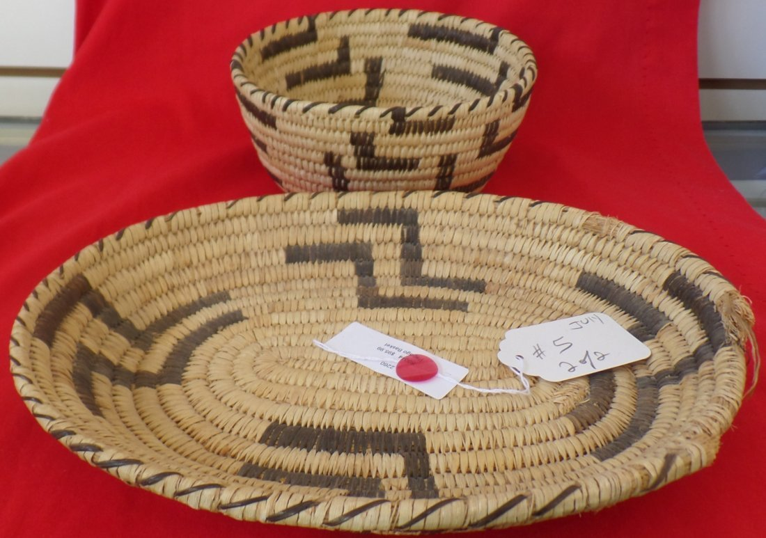 Two old Papago Baskets