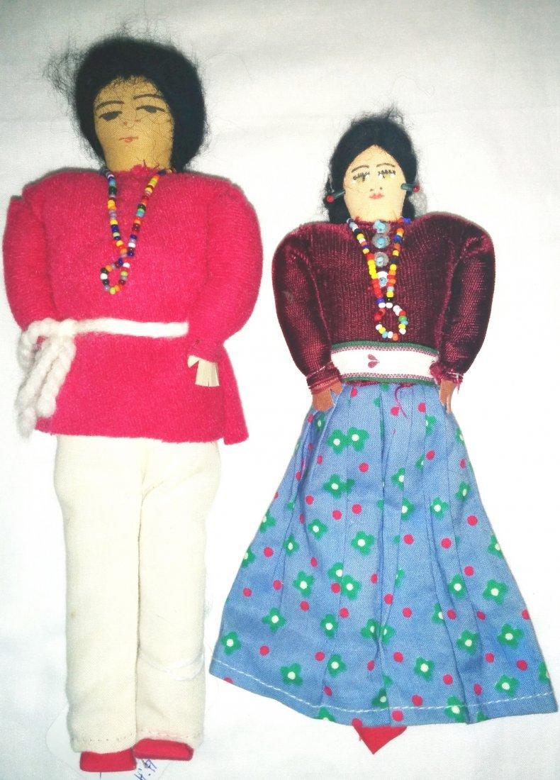 4 Navajo Indian Cloth Dolls - 2