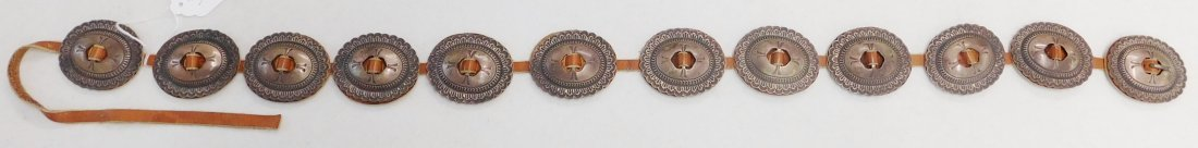 Old Navajo Concho Belt