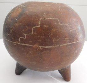Mexican Tri-leg Pottery Vessel
