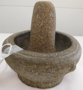 Spanish Colonial Stone Mortar And Pestle