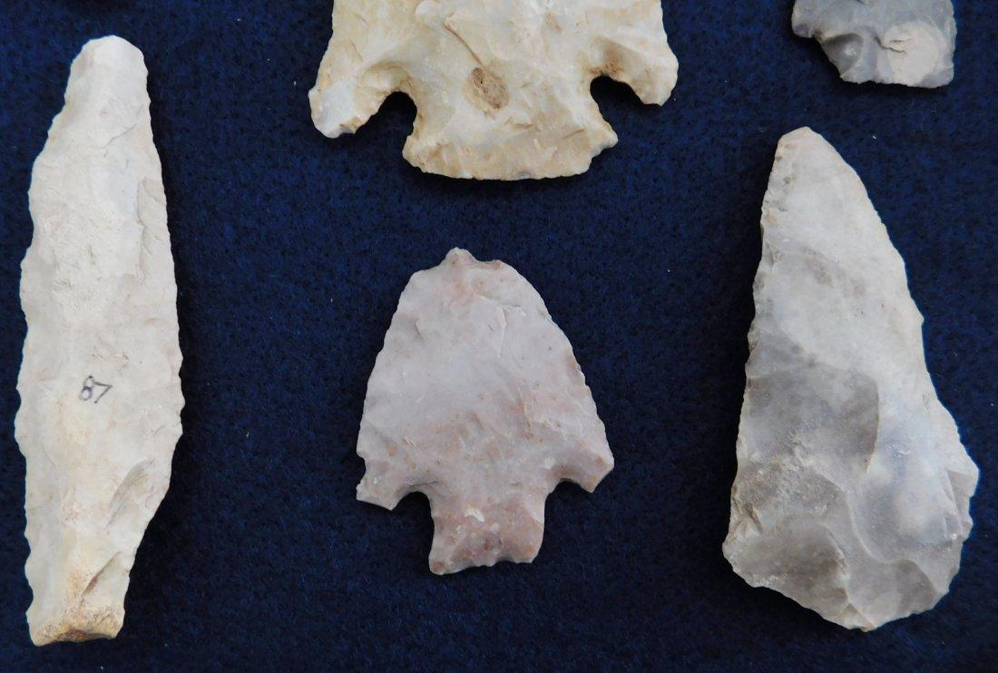 Discoidal Chunkee Stone & Texas Arrowheads - 6