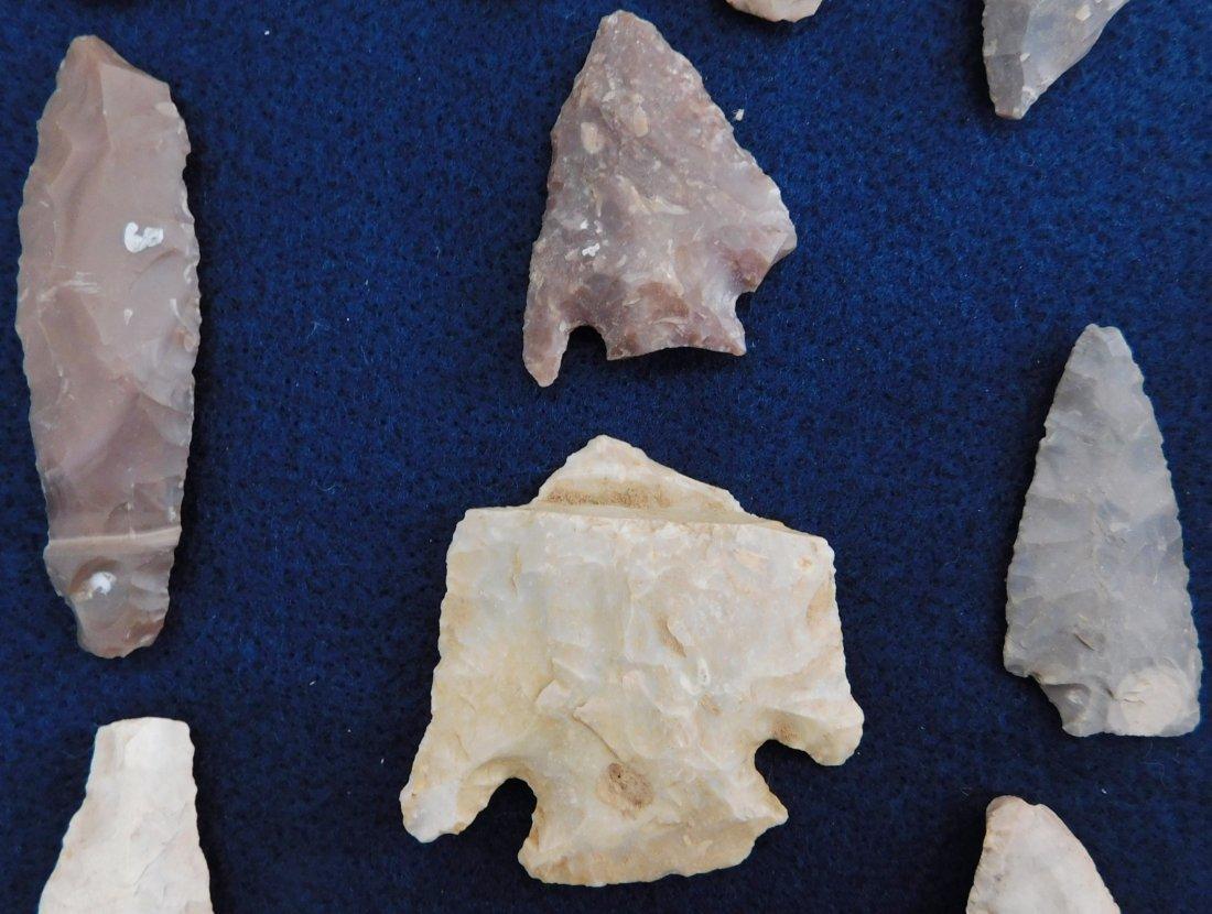 Discoidal Chunkee Stone & Texas Arrowheads - 7