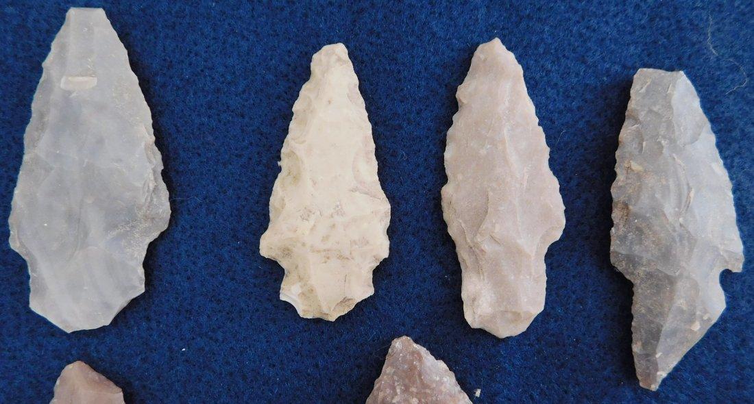 Discoidal Chunkee Stone & Texas Arrowheads - 8