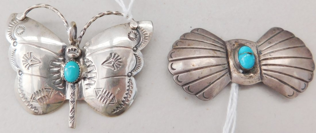2 Sterling Butterfly Pins