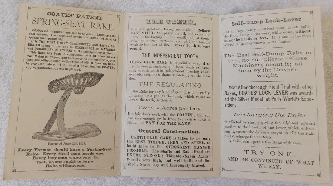 5 Antique Farm Machinery Ad Cards - 7