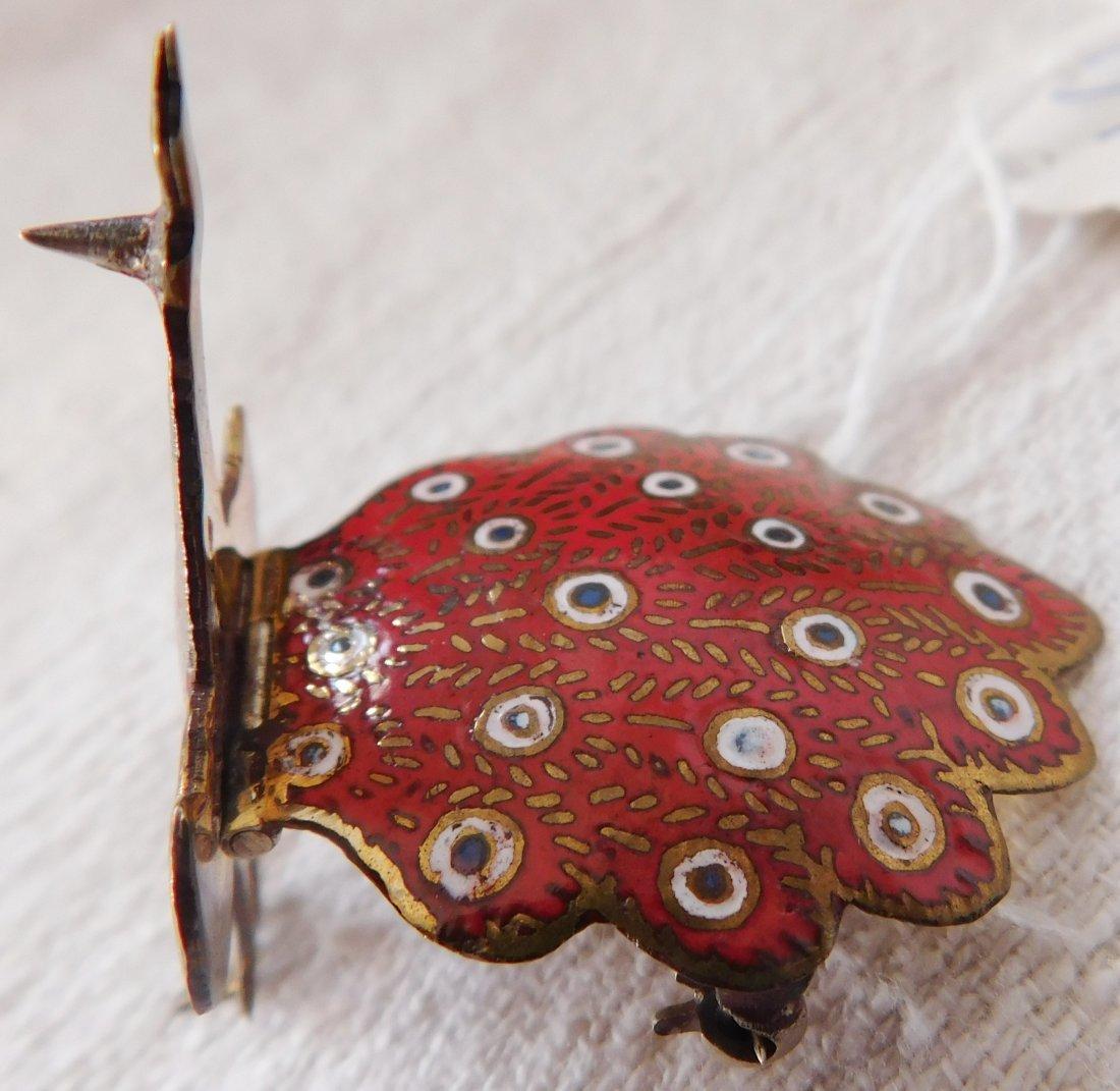 2 Peacock Pins - 4