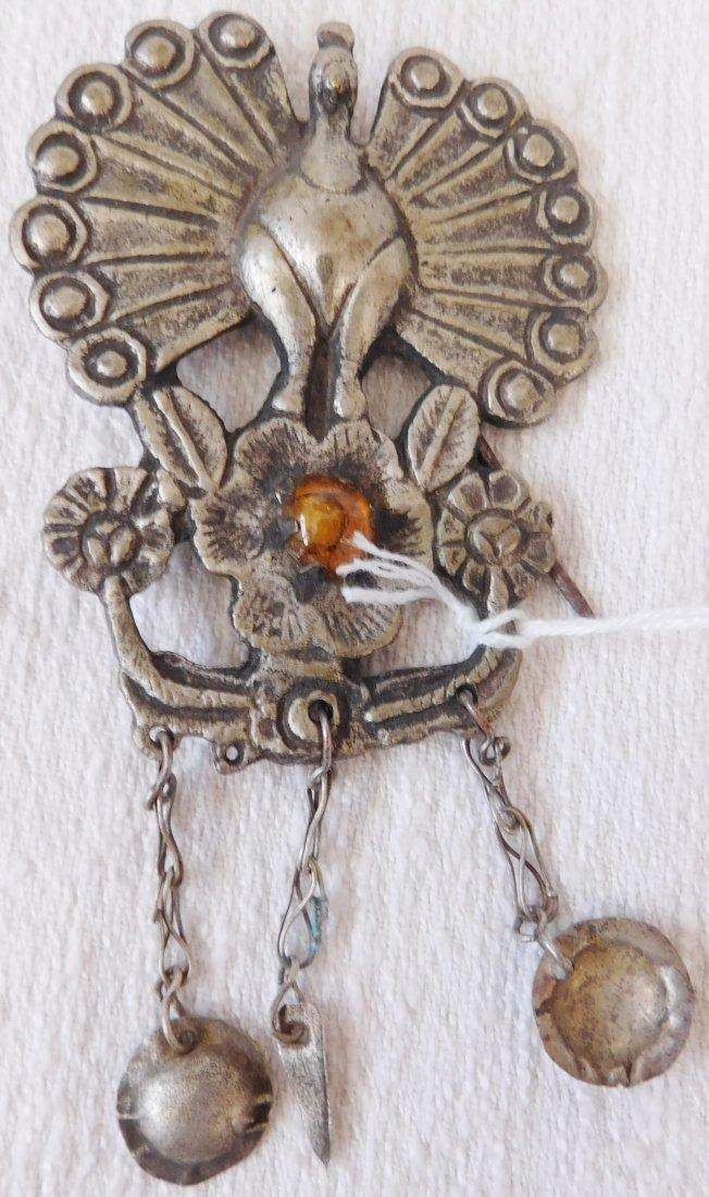 2 Peacock Pins - 6