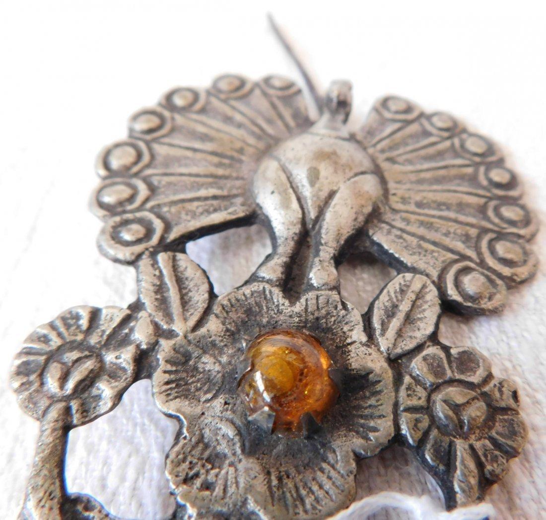 2 Peacock Pins - 9